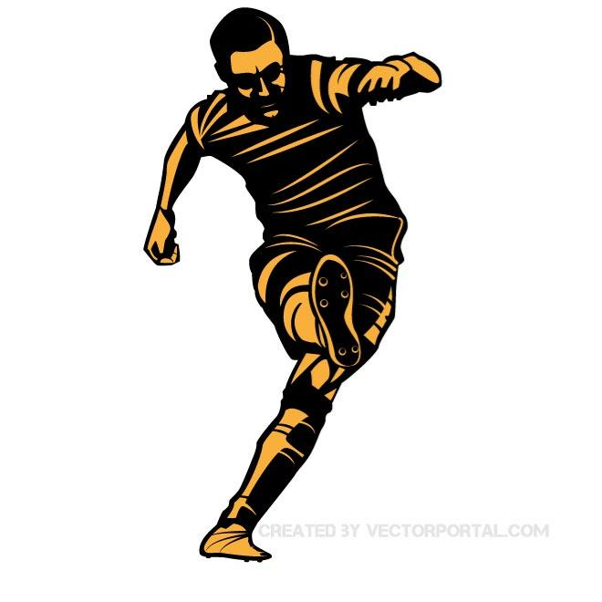 Vector Football Player Clip Art