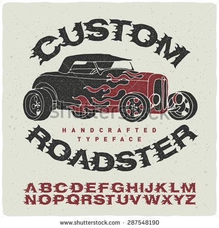 Vintage Hot Rod Fonts