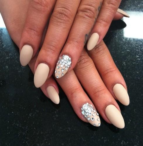 White Pointy Nails