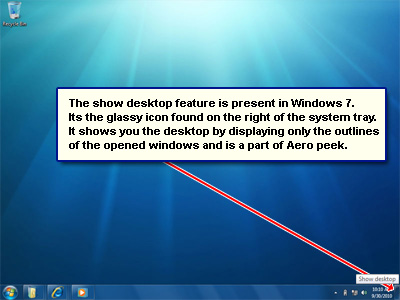 16 Show Desktop Icon Taskbar Windows 7 Images