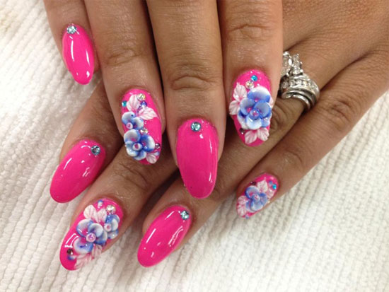 17 3D Acrylic Nail Designs Images