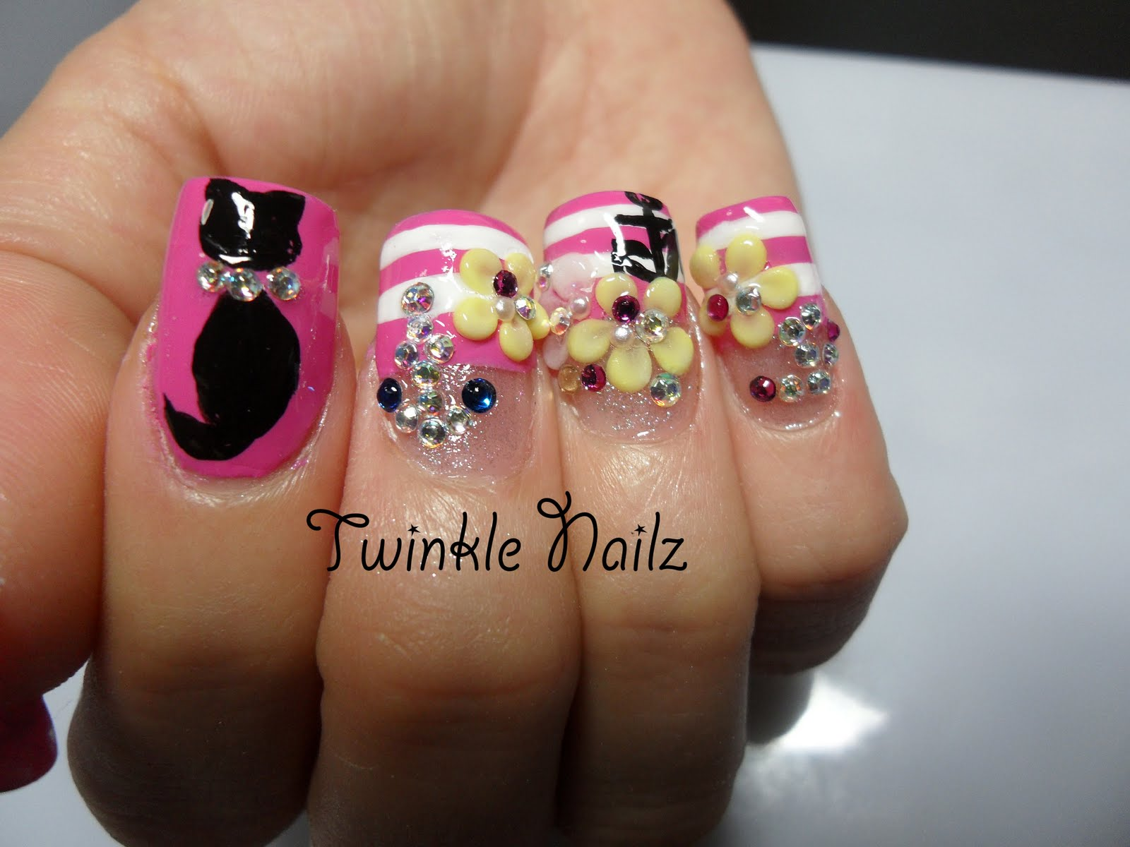 3D Acrylic Nail Art Designs