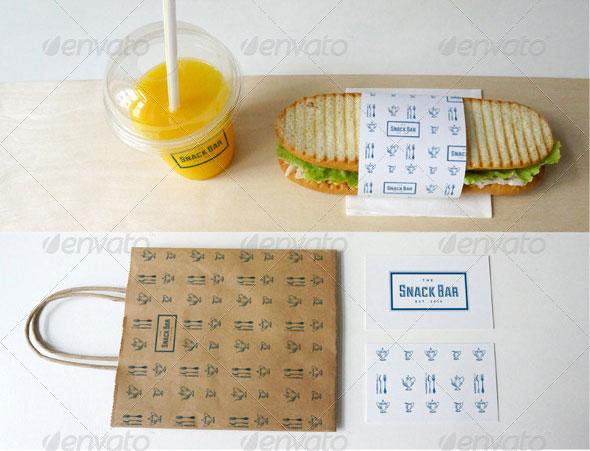 3D Mockup Restaurant