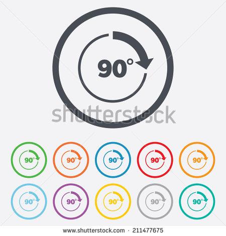 15 360 degree arrow transparent vector images arrow for 90 degrees salon