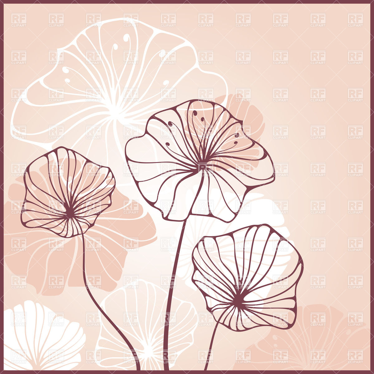 19 Outline Flower Vector Images Lily Drawing