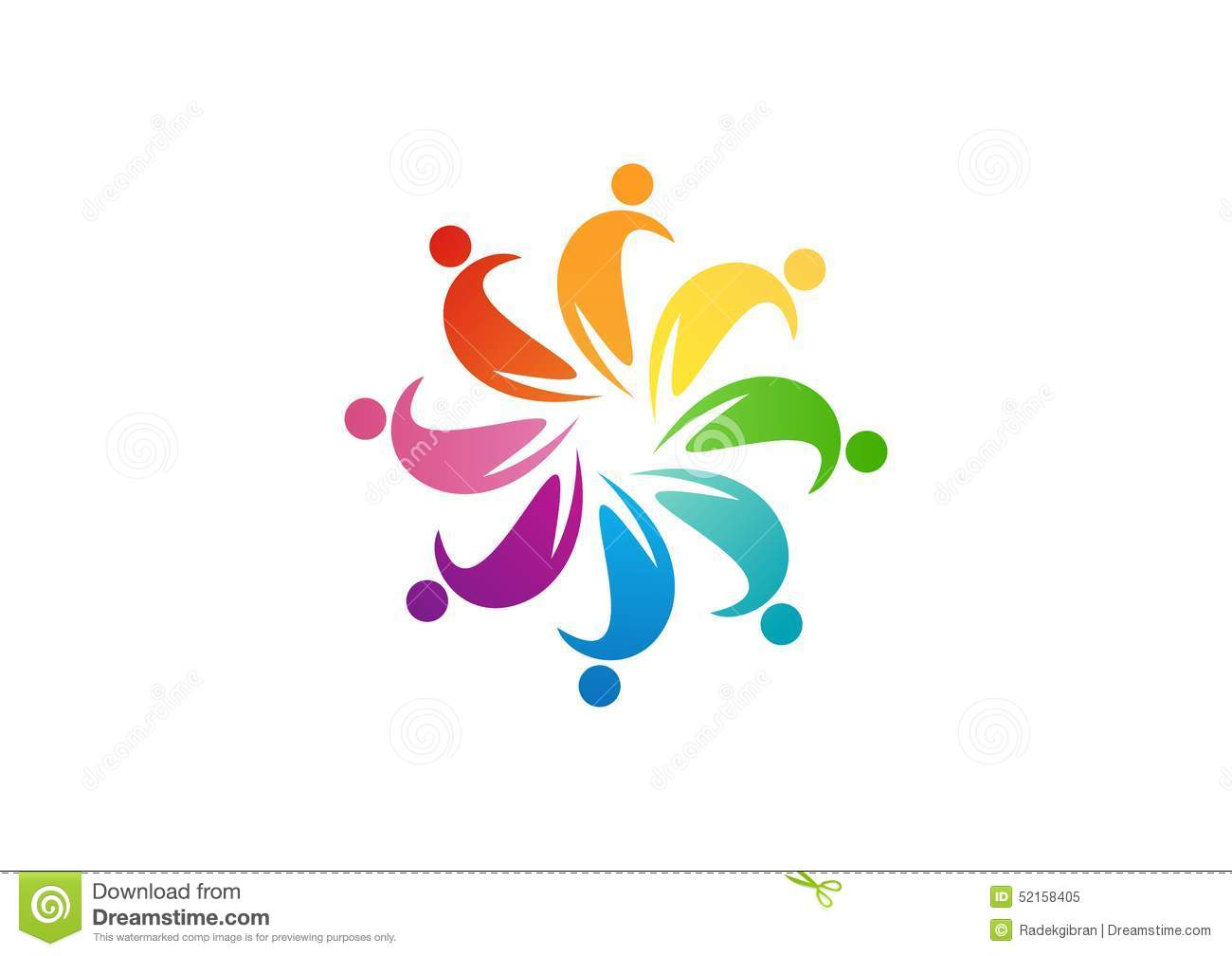 Abstract People Logo Designs