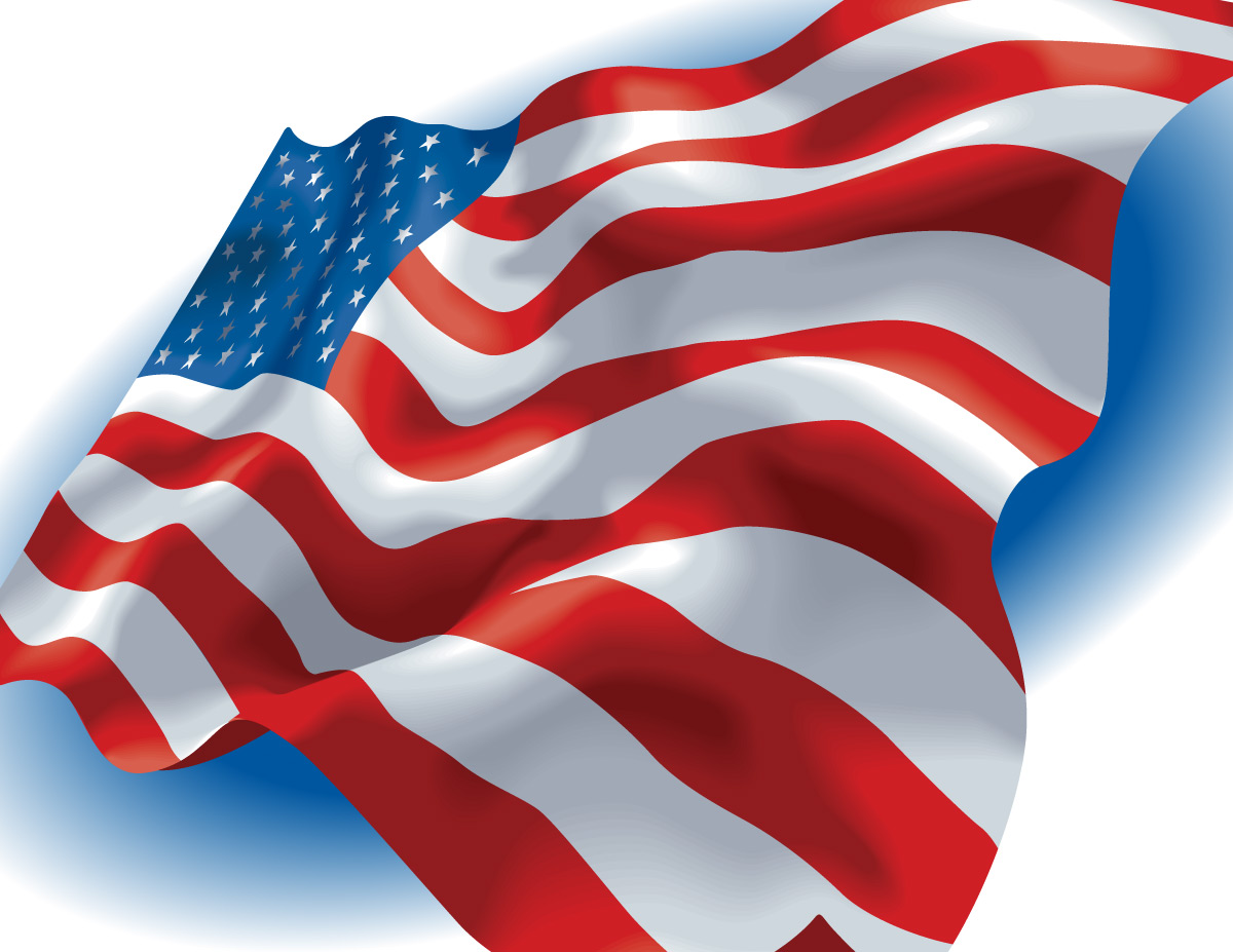 14 Free Vector American Flag Clip Art Images