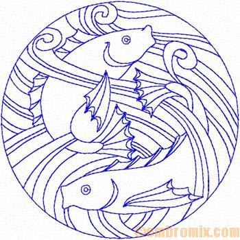 Art Nouveau Fish Design