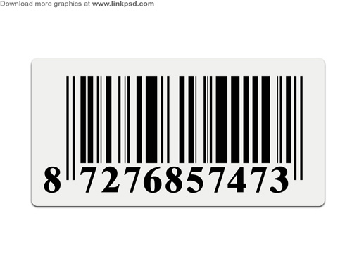 Barcode Sticker PSD