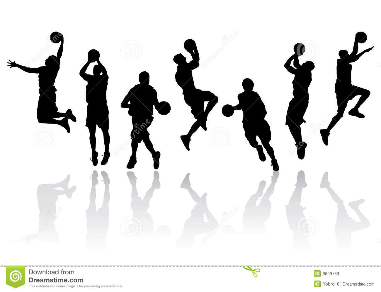16 Basketball Silhouette Vector Free Images