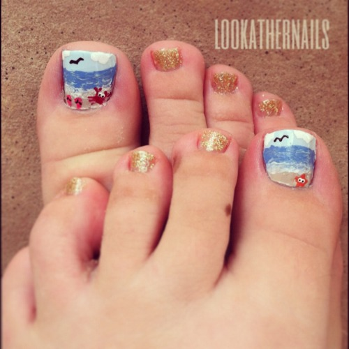 Beach Themed Toe Nail Designs