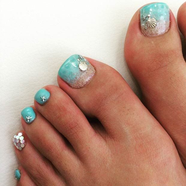 Beach Toe Nail Designs 2016