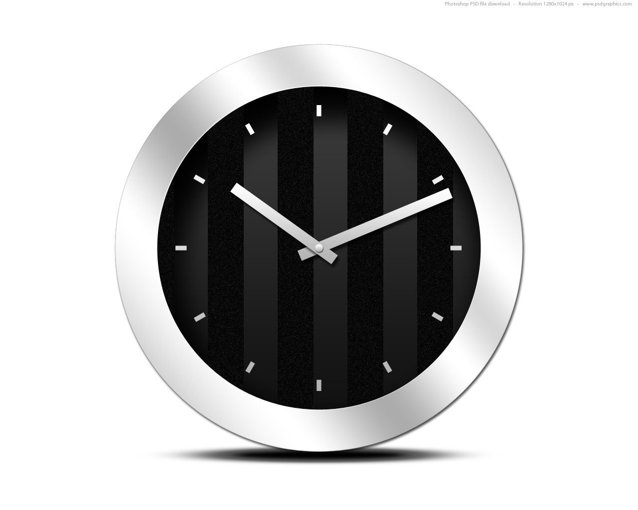 13 Black Clock Icon Images