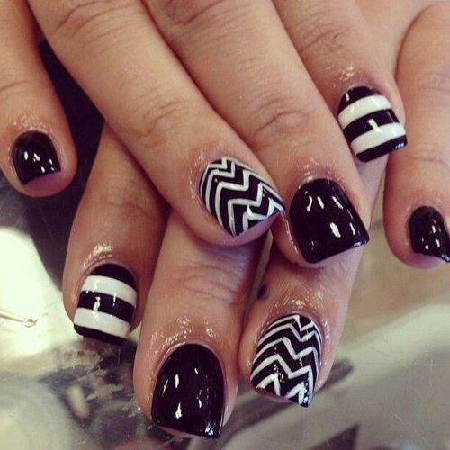 17 Black Short Nail Designs Images