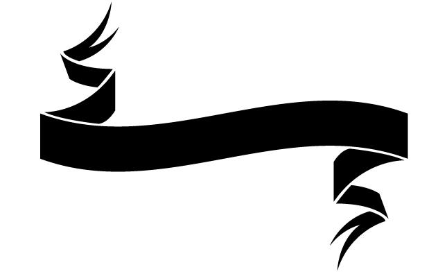 Black Ribbon Banner Vector