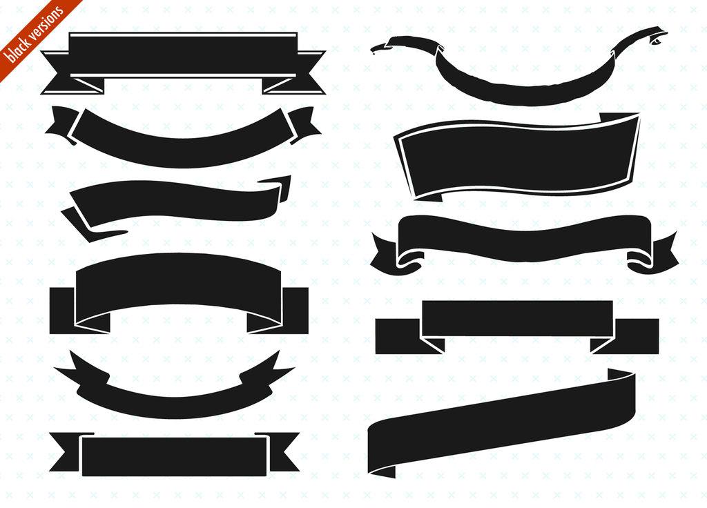 Black Ribbon Banner