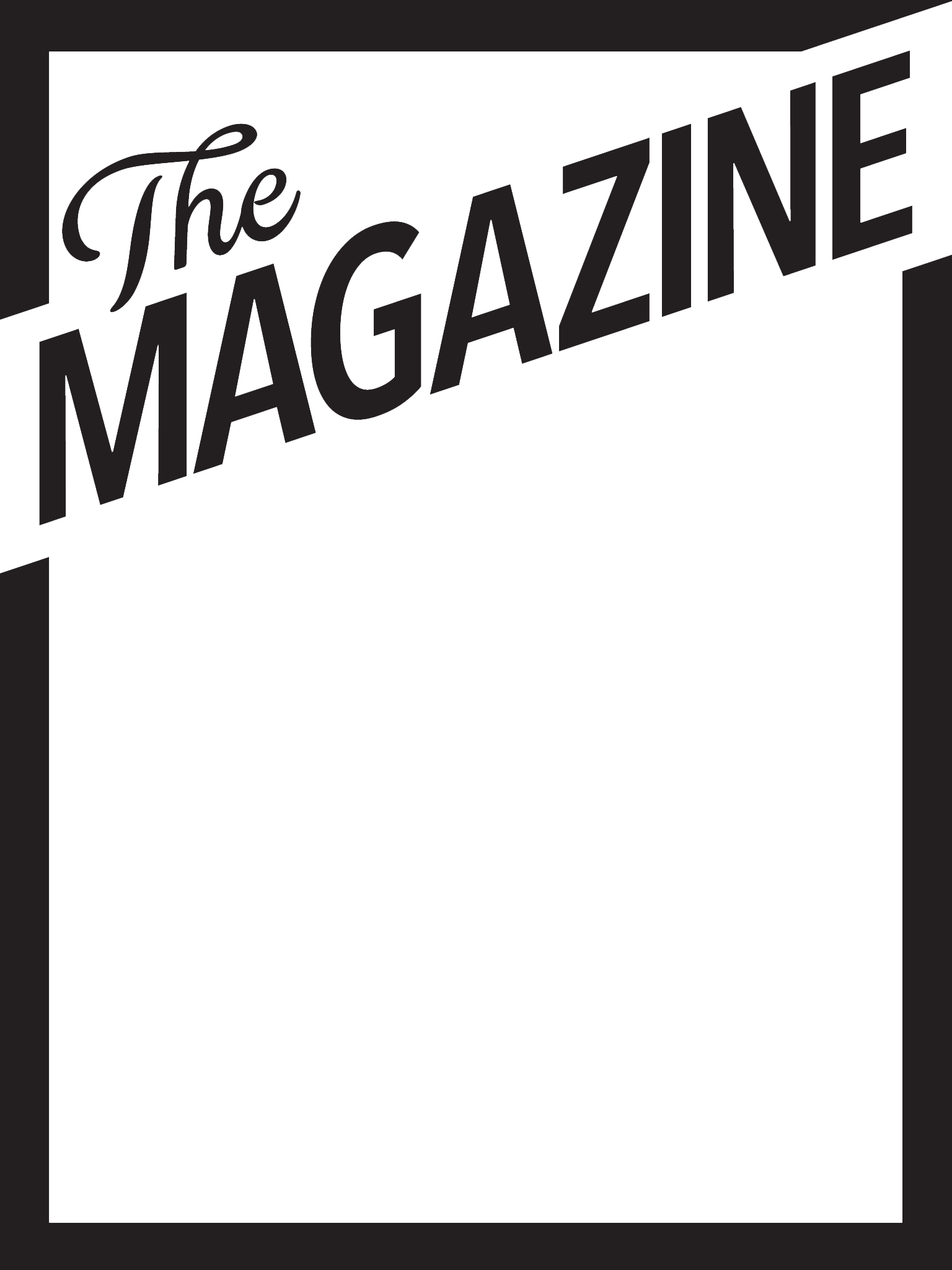 Blank Magazine Cover Templates