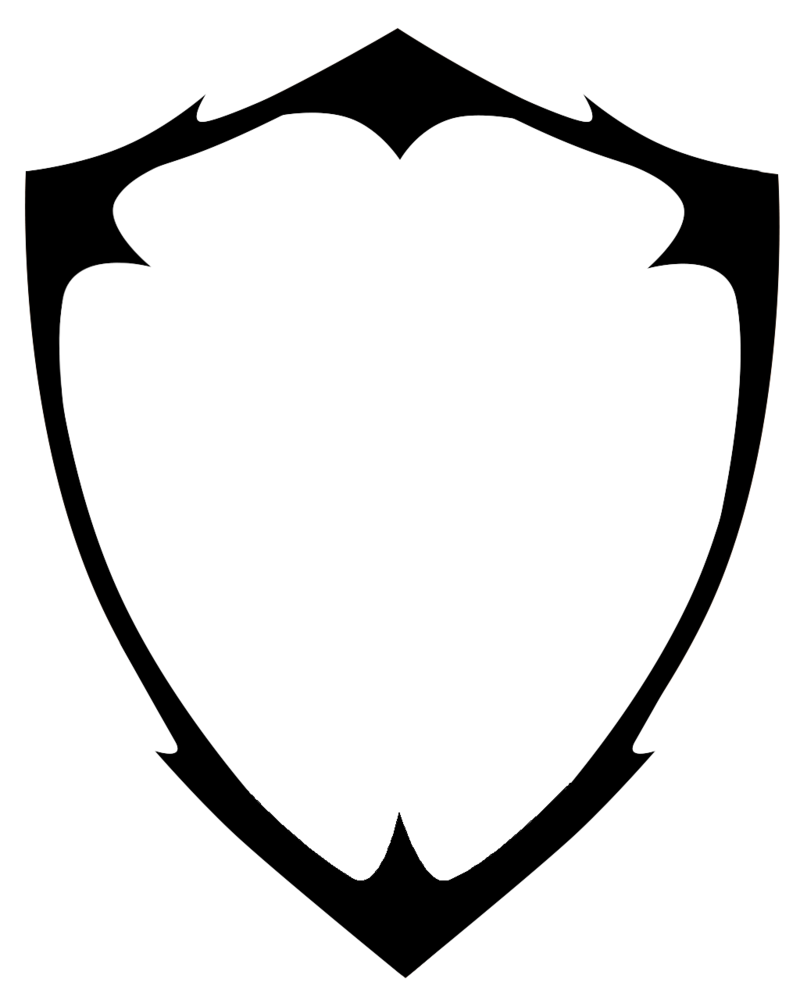 Blank Shield Logo Vector