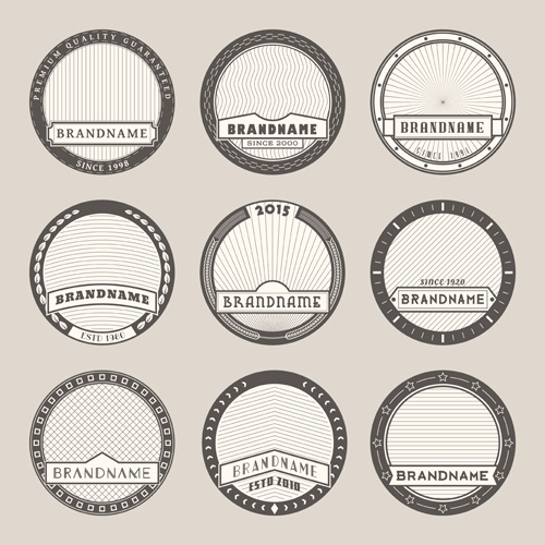 Blank Vintage Labels Vector Free