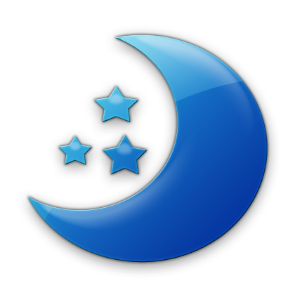 Blue Moon and Stars Clip Art