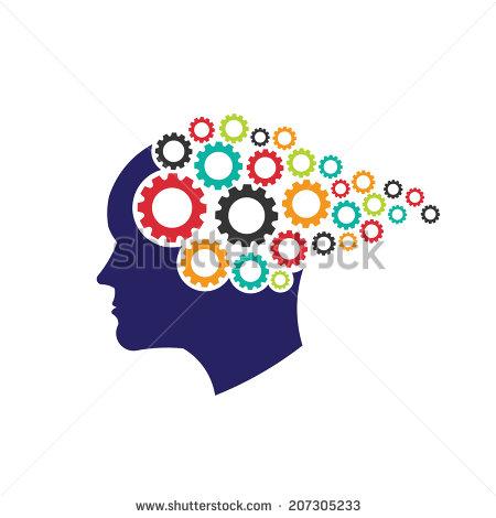 Brain Icon Thinking Gears