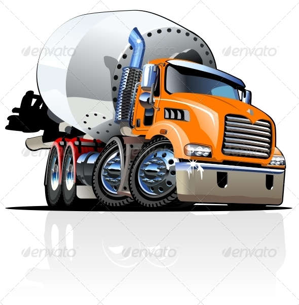 12 Cement Truck Vector Images