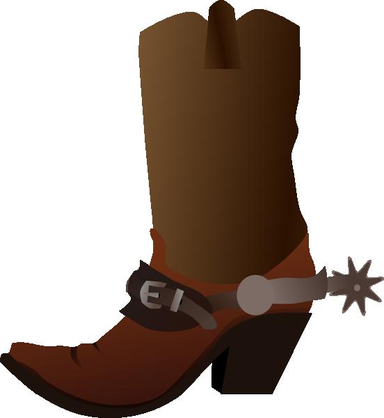 16 Cowboy Boot Clip Art Vector Images