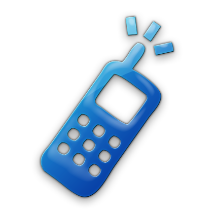 Cell Phone Icon Blue