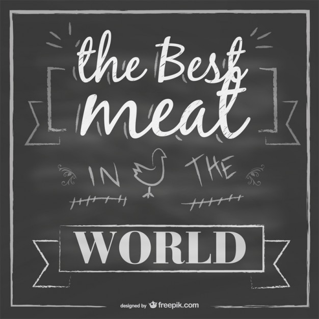 14 Free Vector Meat Chalkboard Art Images