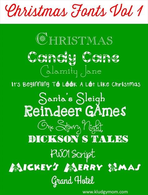 10 Holiday Christmas Fonts Images