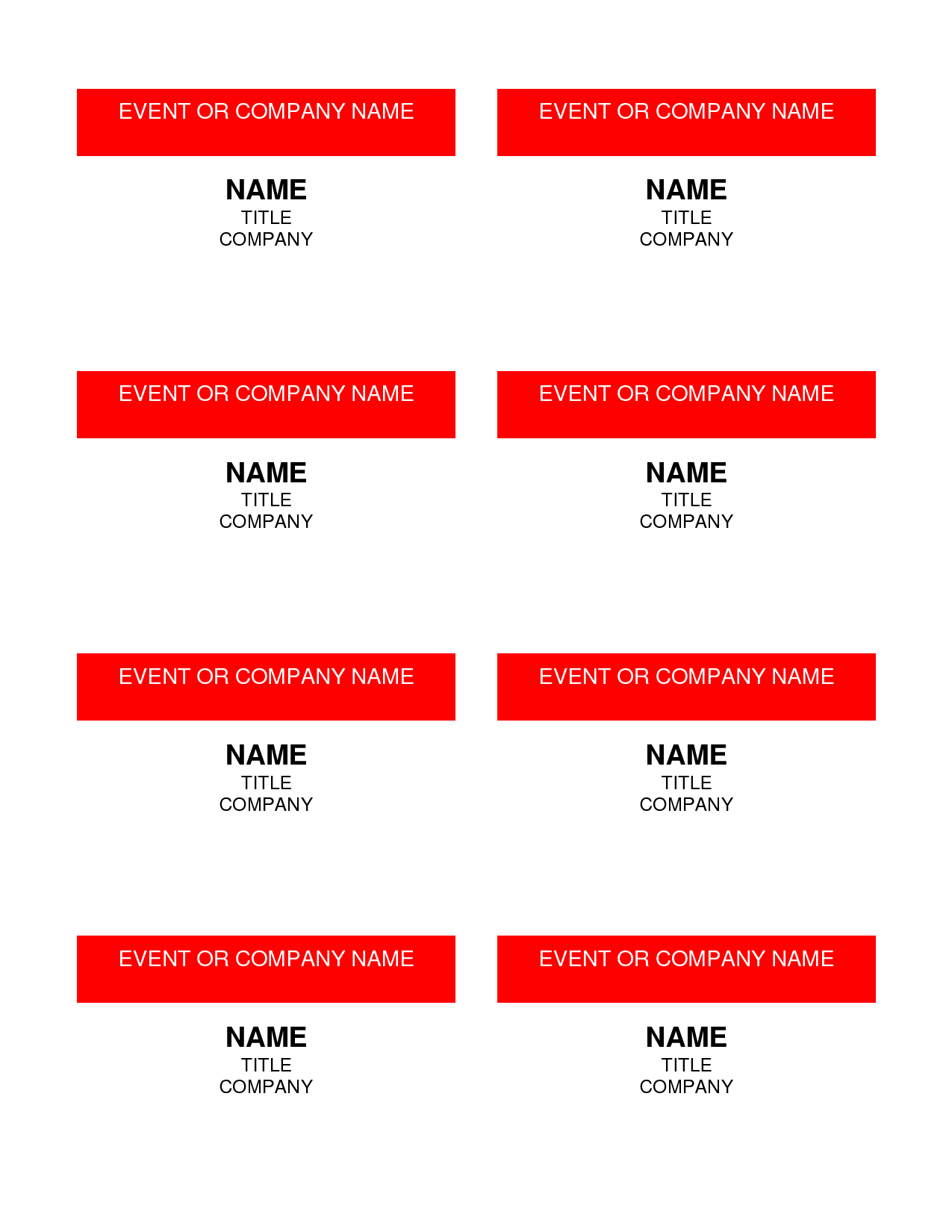 14 Name Badge Templates Images - Christmas Name Badge Templates