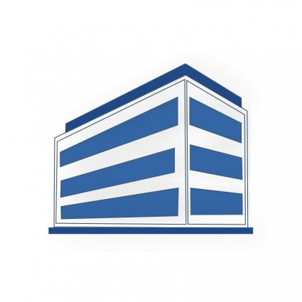 8 Red Office Building Icon Images