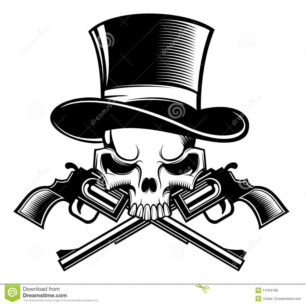 Pirate skull and guns - photo#20