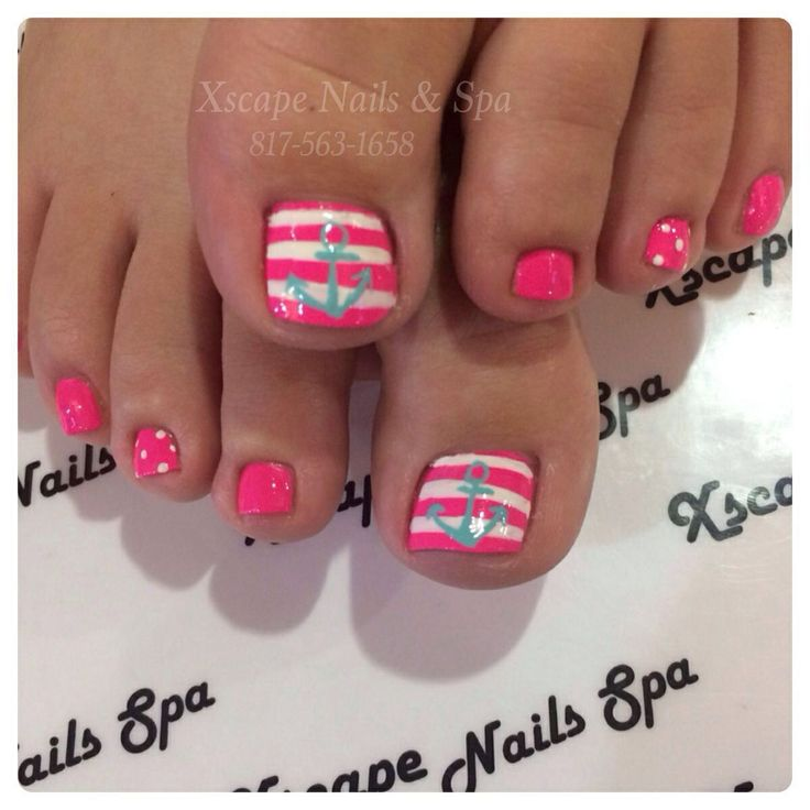 8 Beach Toe Nail Designs Images