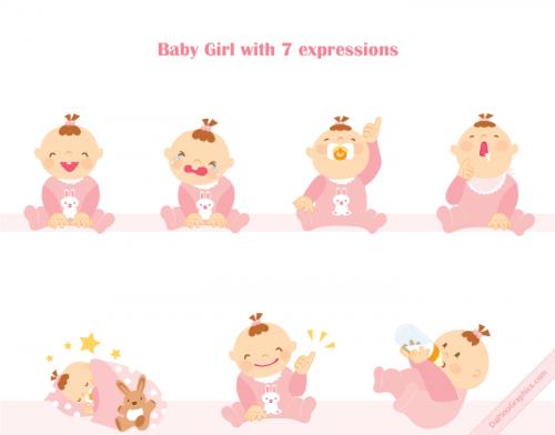 Cute Baby Girl Icon
