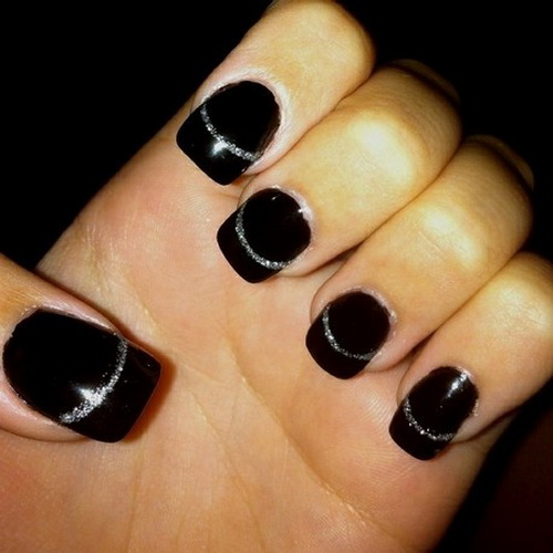 Cute Black Prom Nail Designs