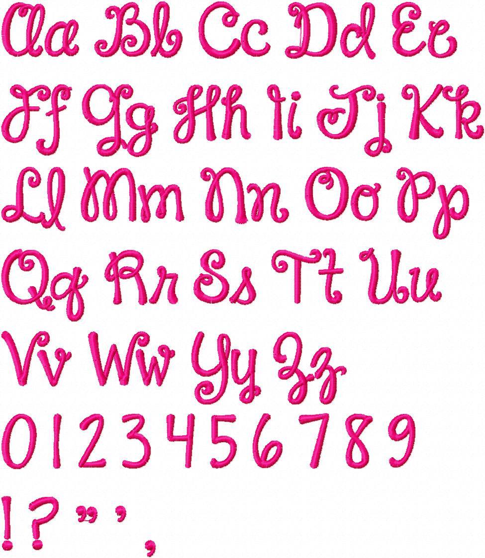Cute Font Letters Alphabet