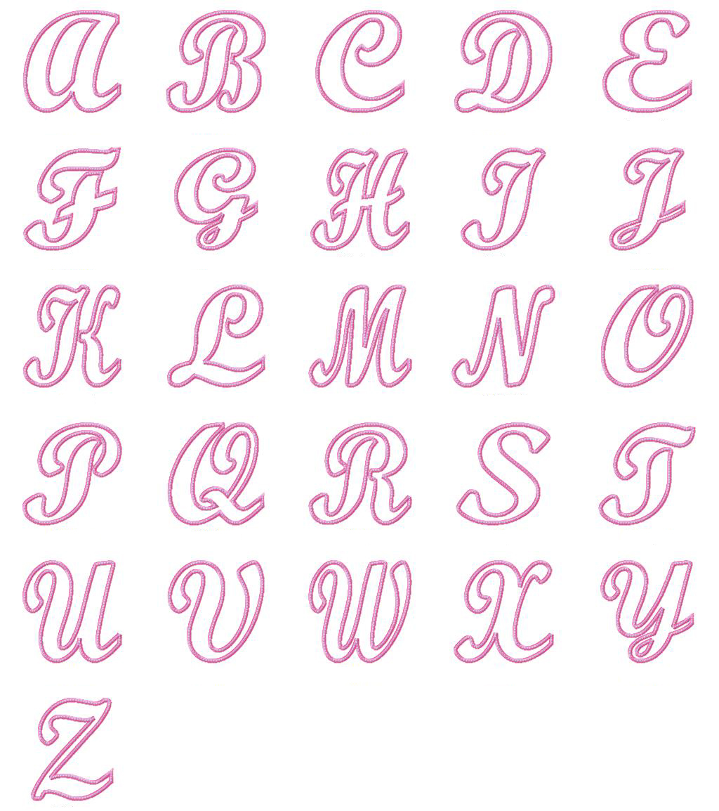 Cute Girly Bubble Letters