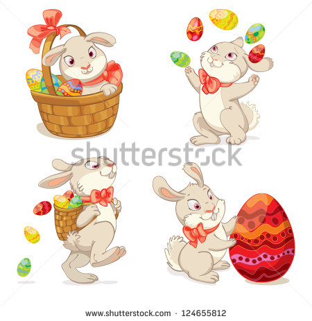Cute Happy Easter Bunny