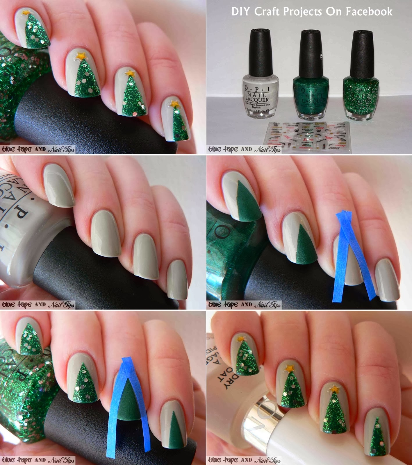 DIY Easy Christmas Nail Art Designs