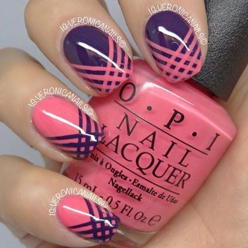 Easy Nail Art with Tape