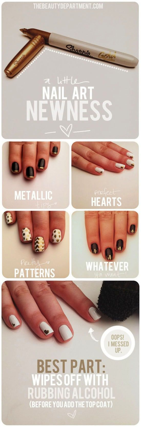 Easy Sharpie Nail Art