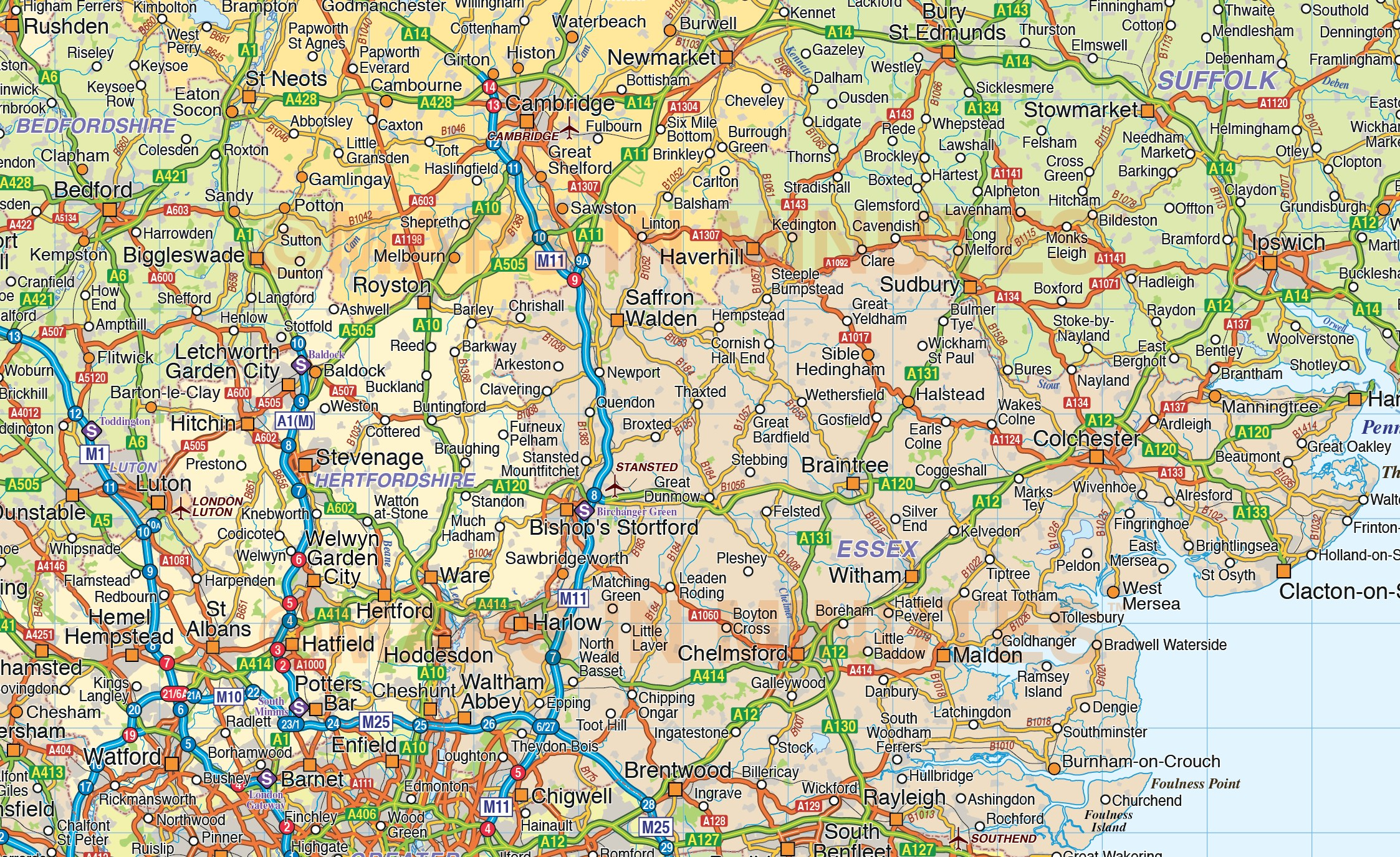 England France Road Map