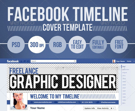 18 Facebook Cover Photoshop Template Psd Images Facebook