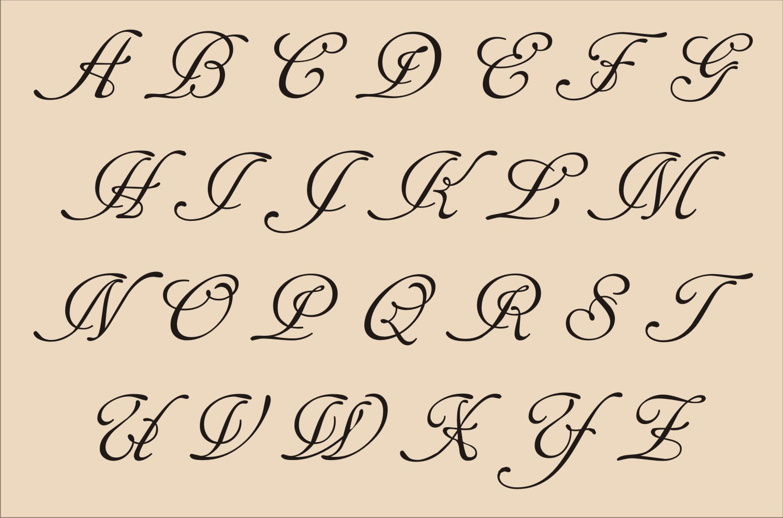 Fancy Alphabet Letter Stencil