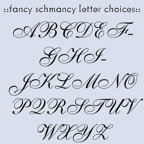 Fancy Letter Fonts Tattoo Lettering