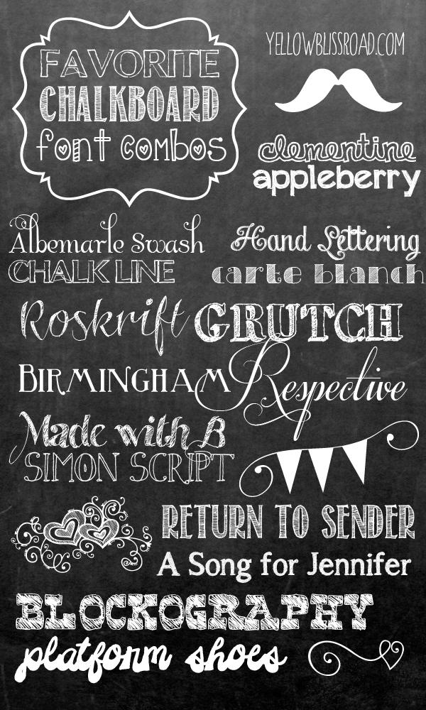 11 Fancy Free Chalkboard Font Images