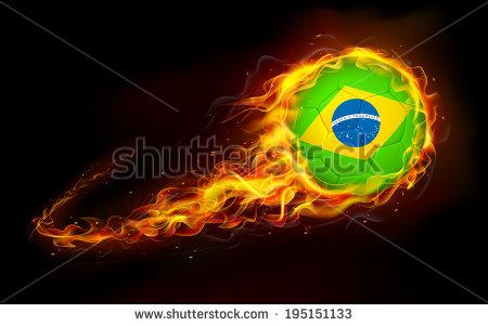Fiery Soccer Ball