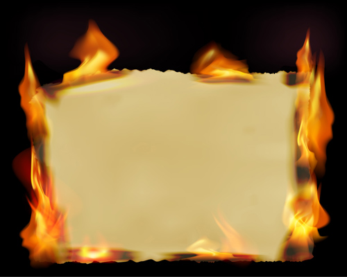 9 Burning Paper PSD Images