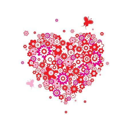 Flower Vector Graphic Heart